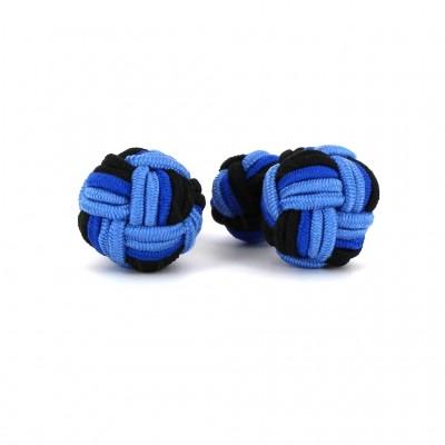 Gemelos Bola Grande Negro y Azules