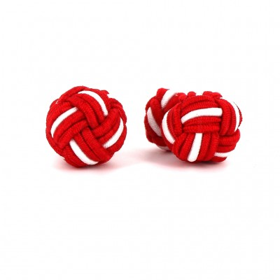 Gemelos Bola Grande Rojo y Blanco