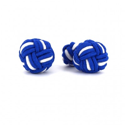 Gemelos Bola Grande Azul Marino y Blanco