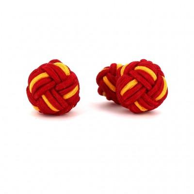 Gemelos Bola Grande Rojo y Amarillo