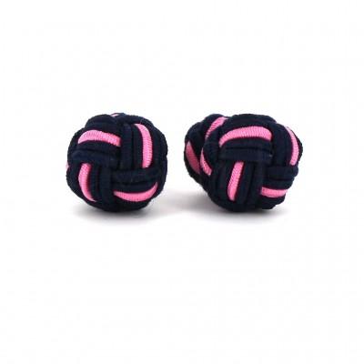 Gemelos Bola Grande Negro y Rosa