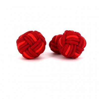 Gemelos Bola Grande Tonos Rojos