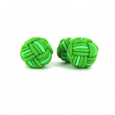 Gemelos Bola Grande Tonos Verdes