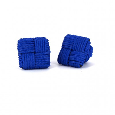 Gemelos Cuadrado Azul Marino