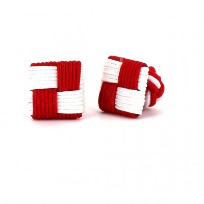 Gemelos Cuadrado Rojo y Blanco