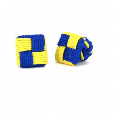 Gemelos Cuadrado Azul y Amarillo