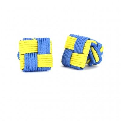 Gemelos Cuadrado Amarillo y Azul Celeste