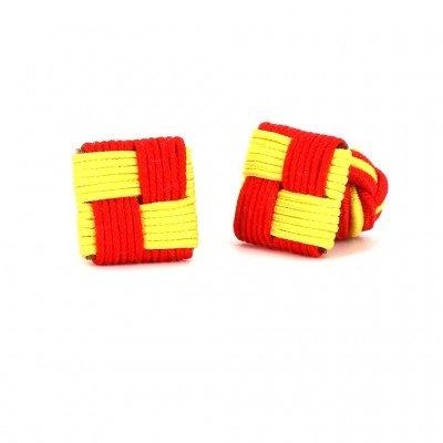 Gemelos Cuadrado Rojo y Amarillo