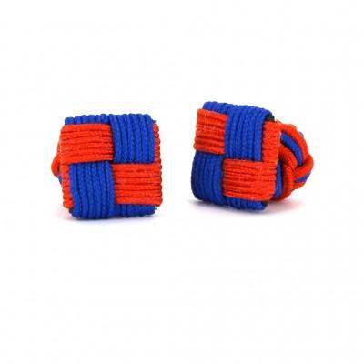 Gemelos Cuadrado Naranja y Azul Marino