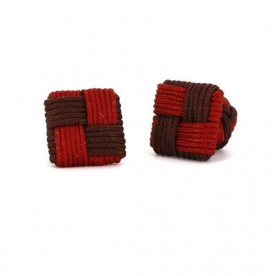 Gemelos Cuadrado Chocolate y Caoba