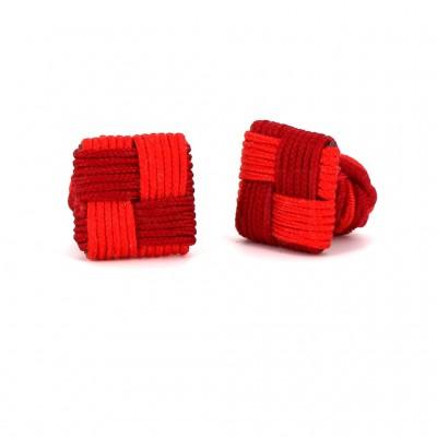 Gemelos Cuadrado Rojo Escarta y Rojo Carmín