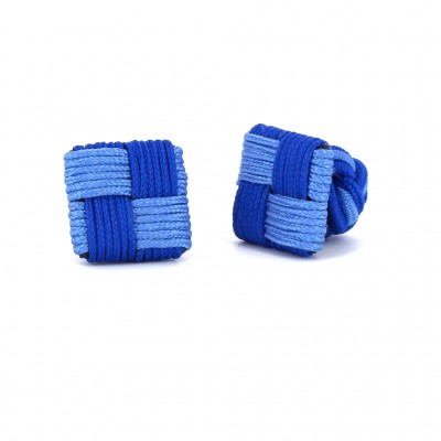 Gemelos Cuadrado Azul Marino y Azul Celeste
