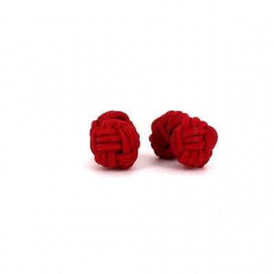 Gemelos Doble Bola Rojo Carmín