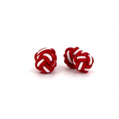 Gemelos Doble Bola Rojo y Blanco