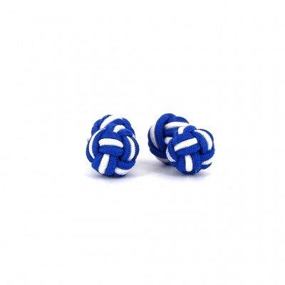 Gemelos Doble Bola Azul Marino y Blanco