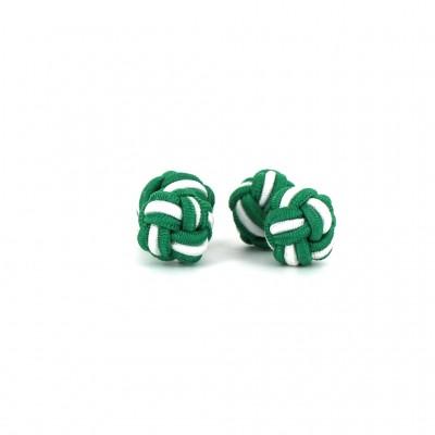 Gemelos Doble Bola Verde Oscuro y Blanco