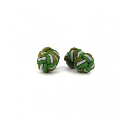 Gemelos Doble Bola Verdes y Gris Claro