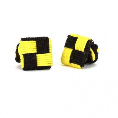 Gemelos Cuadrado Marrón y Amarillo