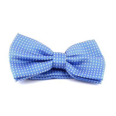 Pajarita Azul Claro con Puntos Blancos