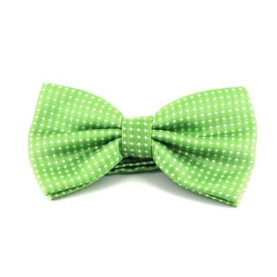 Pajarita Verde con Puntos Blancos