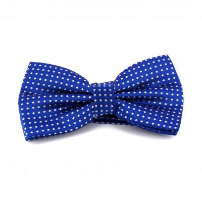 Pajarita Azul con Puntos Blancos