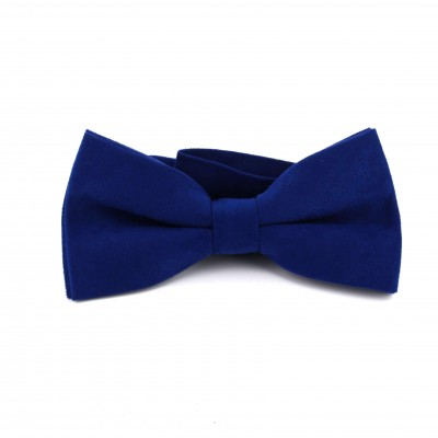 Pajarita Lisa Terciopelo Azul