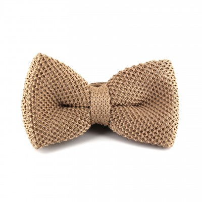 moda mejor valorada venta de bajo precio mejor mayorista Pajarita de Punto Lisa Beige | Cravatta World