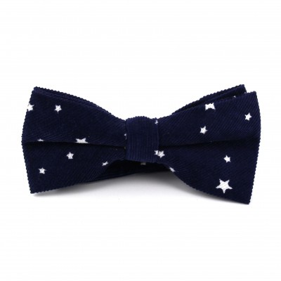 Pajarita Estampada de Estrellas Azul Marino