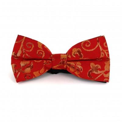 Pajarita Paisley con Brillo Roja I