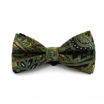 Pajarita Paisley con Brillo Verde