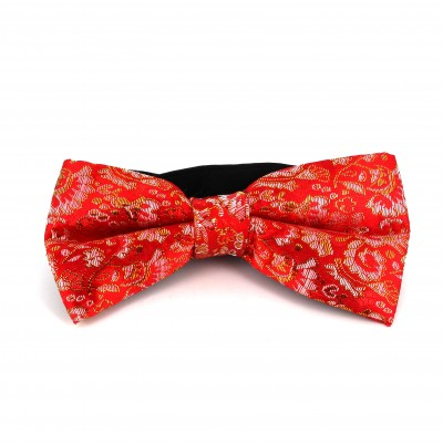 Pajarita Paisley con Brillo Roja