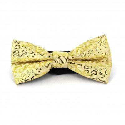 Pajarita Paisley con Brillo Amarilla