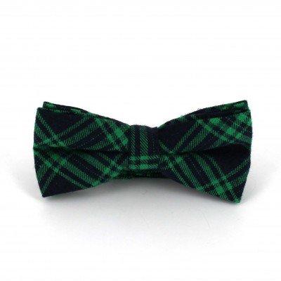 Pajarita Cuadros Escoceses Azul y Verde
