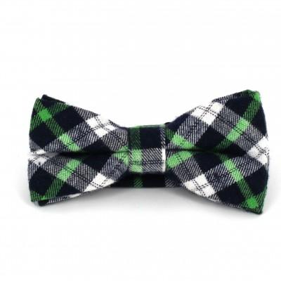 Pajarita Cuadros Escoceses Verde y Azul