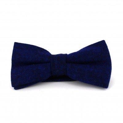 Pajarita de Lana Jaspeada Azul