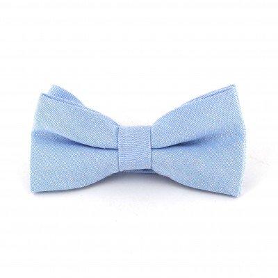 Pajarita Lisa Oxford Azul Claro