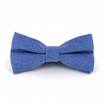 Pajarita Lisa Oxford Azul