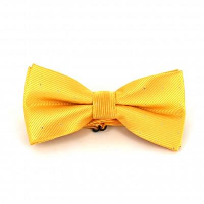Pajarita Amarilla con Puntos Brillantes