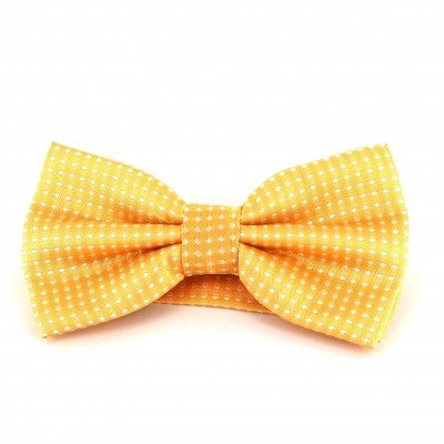 Pajarita Amarilla Puntos Blancos
