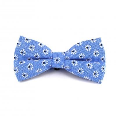 Pajarita Flores Azul