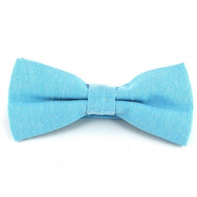 Pajarita Lisa Oxford Azul Celeste