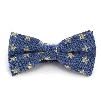 Pajarita Estrellas Azul
