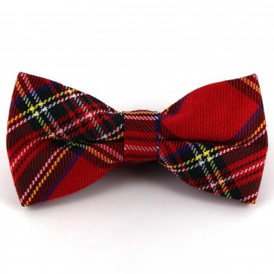 Pajarita Cuadros Escoceses Roja