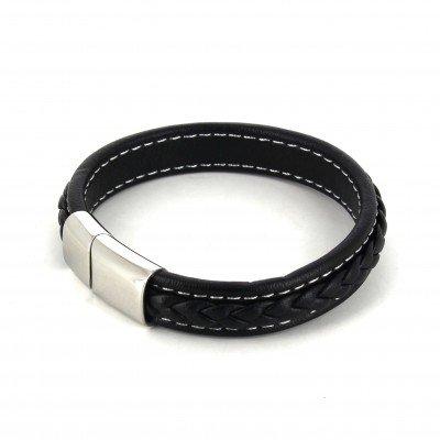 Pulsera Cuerda Cuero Negro III