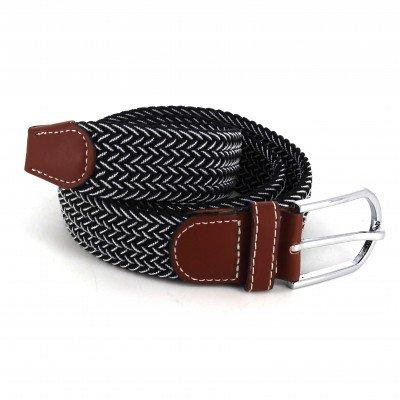Cinturón Elástico Negro y Blanco