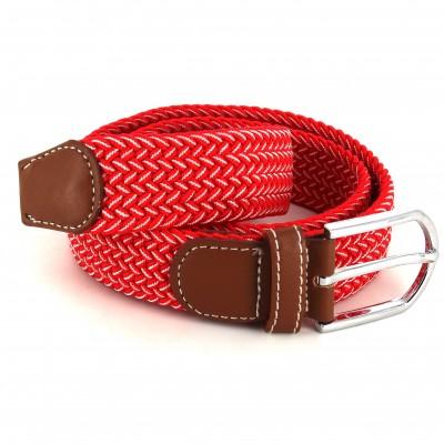 Cinturón Elástico Cinturón Elástico Rojo Claro y Blanco