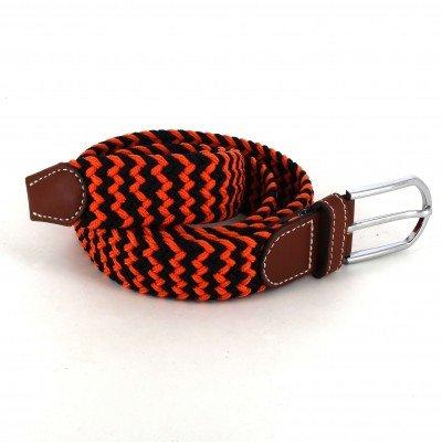 Cinturón Elástico  Naranja y Negro