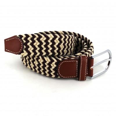 Cinturón Elástico Beige y Marrón
