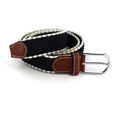 Cinturón Elástico Blanco y Negro I