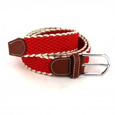 Cinturón Elástico Rojo y Blanco